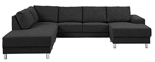 PKline hoekbank in antraciet met chaise lounge