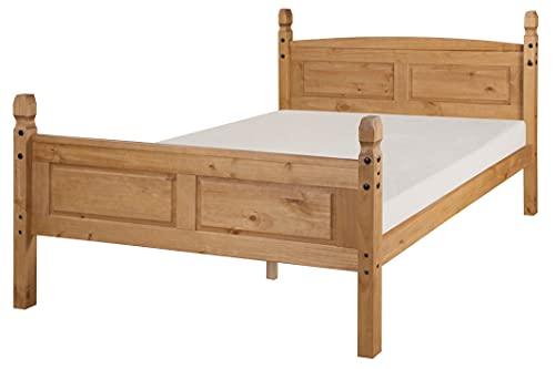 Mercers Furniture Trade Corona King Size 5'0' High End Bed Frame Light Fiesta Wax