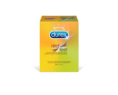 Durex Preservativi Real Feel Sensacion Contatto Natural 24 preservativi