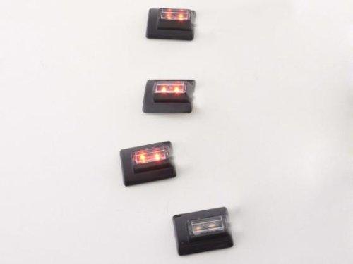 Lampe aMPOULE éclairage éclairage intérieur lED pour utilisation en intérieur éclairage de tableau de bord set micro (2 pièces) avec 4 sports 1 lED rouge