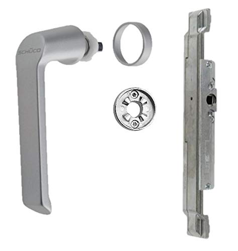 Schüco Reparaturset Getriebe Griff Rosette silber/EV1 (DIN Rechts) Aluminium 223286