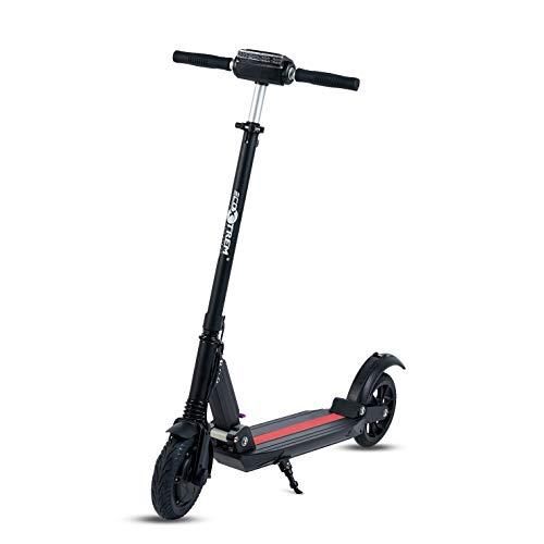 UrbanRun - Patinete eléctrico dos ruedas, plegable y ligero con luz LED...