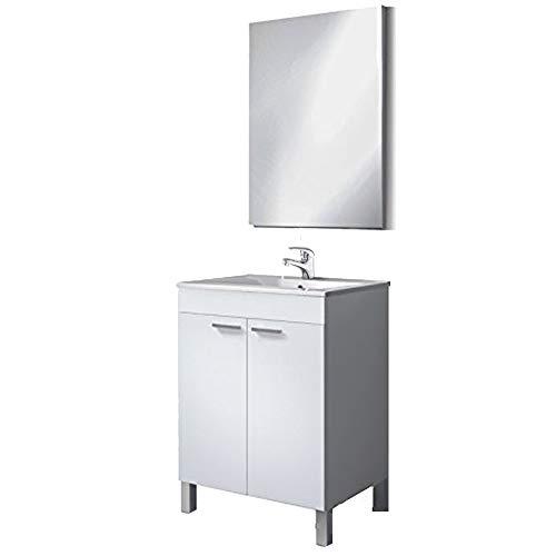 HABITMOBEL Mueble Baño 80X60 con Lavabo PMMA (NO CLÁSICA CERÁMICA) GRIFERÍA INCLUIDA