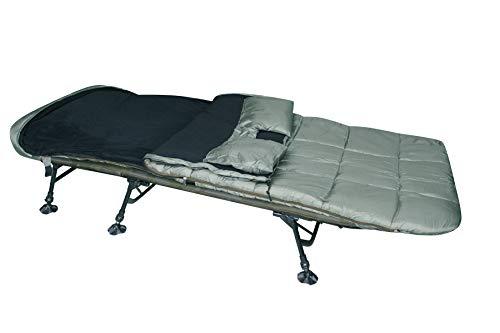 Carp ON Schlafsack fürs Angeln - wasserfester und Rutschfester Karpfenliegen-Schlafsack - Außenschlafsack mit Wärme-Stop-System bis zu -5° - Schlafsack mit Tragetasche