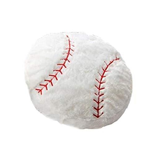 knowledgi Gefüllte Baseball Kissen Plüsch Flauschigen Sport Ball Dekokissen Weiche Durable Sport Spielzeug Geschenk für Kinderzimmer Dekoration