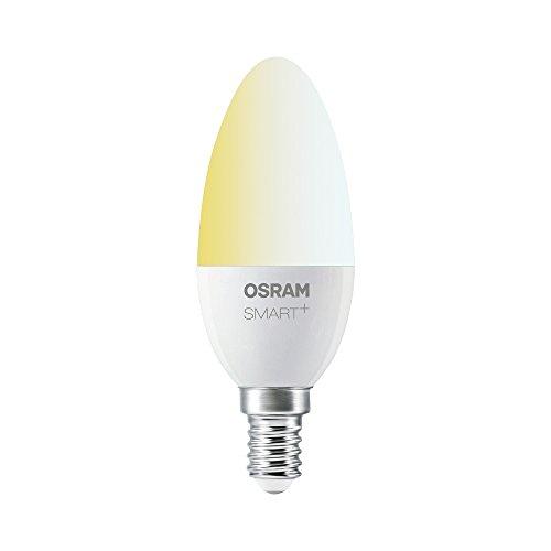 OSRAM Smart+ LED, ZigBee Lampe mit E14 Sockel, warmweiß bis tageslicht (2000K - 6500K), dimmbar, Direkt kompatibel mit Echo Plus und Echo Show (2. Gen.), Kompatibel mit Philips Hue Bridge