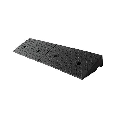 C-J-Xin Gomma nera Rampe Pad, 5-12CM Withstand Threshold Voltage rampe di fabbrica Trasporto Le rampe di carico biciclette scooter rampe disabili rampe di cane (Color : Black)