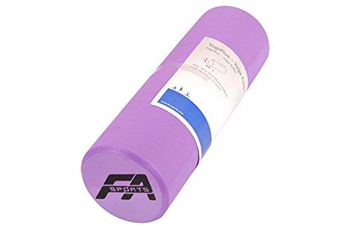 FA Sports Unisex's Yoga Yogiplus Soft Foam Roller, Purple, 15x15x45 cm