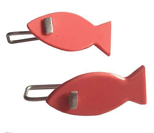 Ohrringe aus Naturharz und Silber. fisch ohrhänger