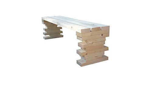 TOTAL WOOD 2012 Gartenbank Sitzbank Holzbank parkbank terrassenmobel für Innen und Außen geeignet 150x38.5x40 cm. Nach Maß verfügbar!