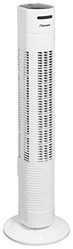 Bestron Turmventilator mit Schwenkfunktion, Timer und Fernbedienung, Höhe: 78 cm, Summer Breeze, 35 Watt, Weiß