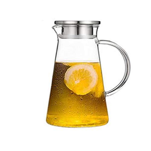 Jarra de agua caliente y fría con asa con tapa de flujo de acero inoxidable Capacidad: 1850 ml. Resistencia al calor: -30-150 °C. Té helado, leche, café, vino