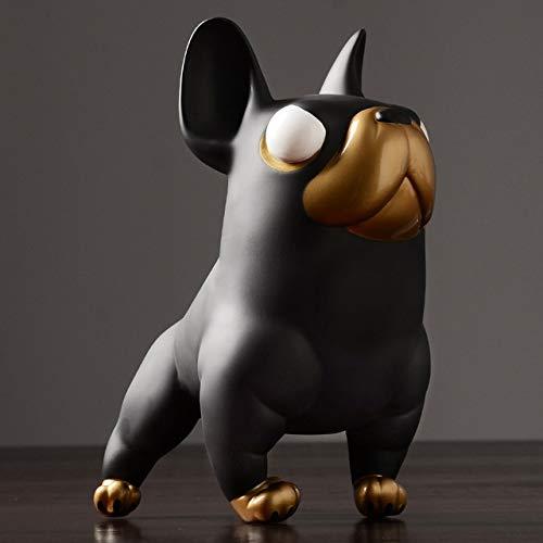 JIAXIN Esculturas Decorativas Escultura De Perro Toro Estatua De Animal Lindo Decoración...