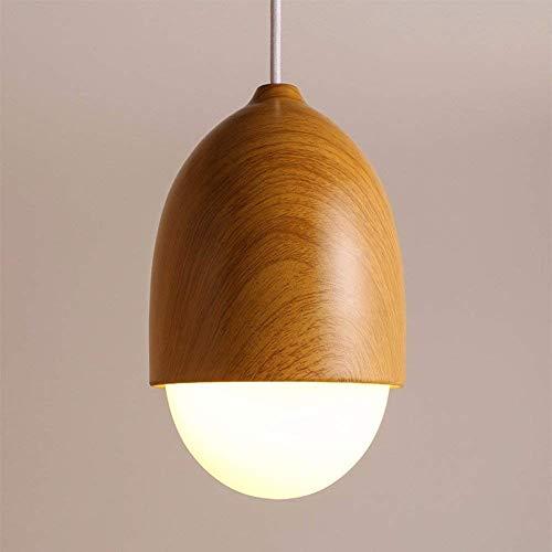 UON Gzz Deng Hanglamp, buitenverlichting, hanglamp, plafondlamp, kroonluchter, van hout, 16 x 25 cm, woonkamer, restaurant, slaapkamer, verlichting