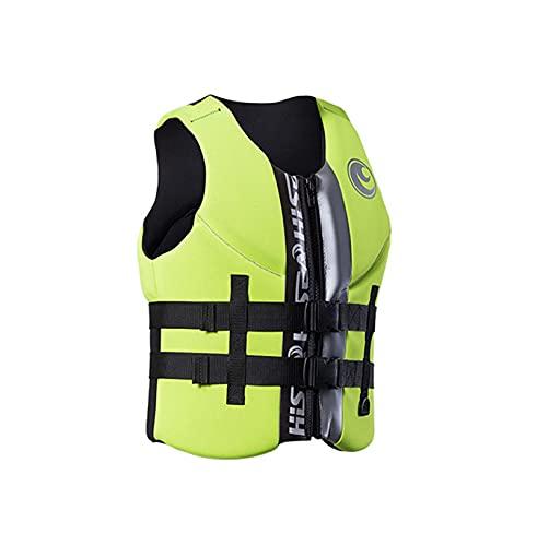 Sunangle Chalecos Salvavidas para Adultos Kayak, Chaleco de Natación, Profesión Chaleco Salvavidas de Verano Chaleco De Flotabilidad de Seguridad Ajustables,Verde,S
