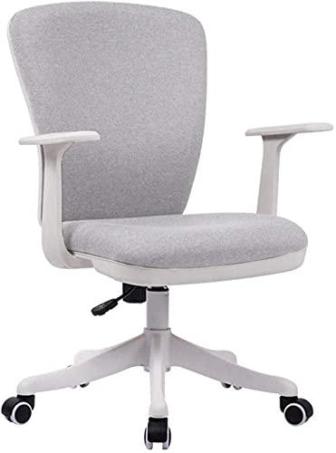 BeingHD Qualitätsbürostuhl, Bürostuhl mit Armlehne Bürostuhl Ergonomischer Schreibtisch Stuhl Mesh Zurück Schwenksitz Verstellbarer Lordosenstütze Executive Chair (Color : Light Gray)