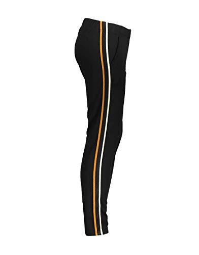 Geisha meisjes jersey broek Black Mustard 91529K