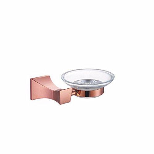 Badaccessoires Sets/Die Basis der Continental party Rose Gold Handtuchhalter Papierrollenhalter WC Bürstenhalter dann zweipolige Einzel Doppel cup Bad Zubehörpaket, Seifenschale