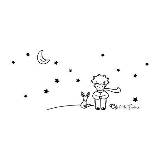 U/K Papel pintado de PULABO con diseño de estrellas, luna, el Principito Niño, adhesivo decorativo para pared, decoración de pared, muy práctico y popular