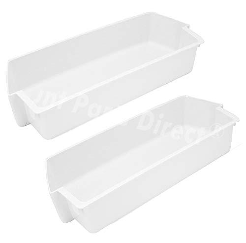 2 Pack 2187172 Door Shelf Bin for Whirlpool for Frigidaire Whirlpool Kenmore Refrigerator PS328468
