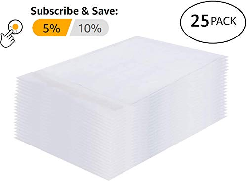 25 Pack White Kraft Padded envelopes 6x9 Bubble Mailers 6 x 9 Peel and Seal Bubble envelopes. Cushion envelopes for mailing, Packing & Packaging & Wrapping. Shipping mailers in Bulk, Wholesale Price. Photo #5