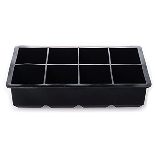 JIUYECAO Bandeja de hielo cubo 8 celdas de silicona Ice Cube Maker Ice Candy Cake Pudding Molde de chocolate...