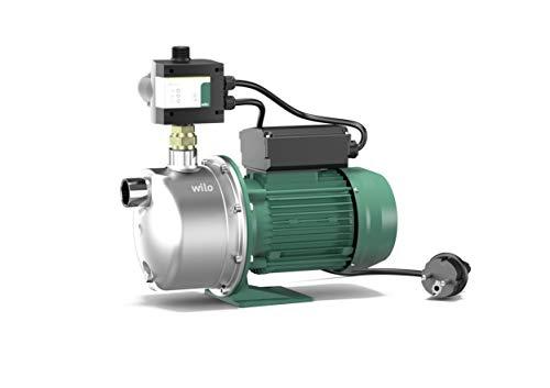 Wilo-Jet FWJ 203 Gartenpumpe, selbstansaugender Hauswasserautomat/Hauswasserwerk zur Wasserversorgung aus Brunnen, Zisternen und Regentonnen, 5000l/h, 4,2 bar, 750W