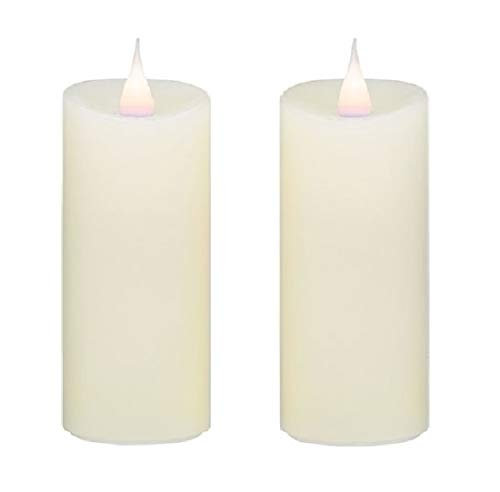 Roman 140004 Ivory Votives LED Candle, Set of 2, 4-inch Height