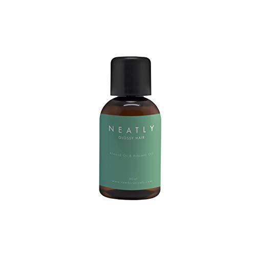Haar-Öl gegen trockene Haare von Neatly 50 ml I Macht sprödes Haar geschmeidig und ist als Hitzeschutz verwendbar I Haarkur Alternative mit Argan & Mandelöl I Für alle Haartypen geeignet