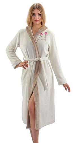 Sesto Senso® dames badjas met capuchon nachtkleding met riem kort en lang ochtendjas slaaprok robe pyjama