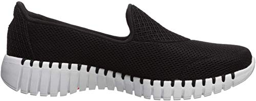 Skechers Womens GO Walk SMART-16700 Sneaker, Black/White, 8.5 M US