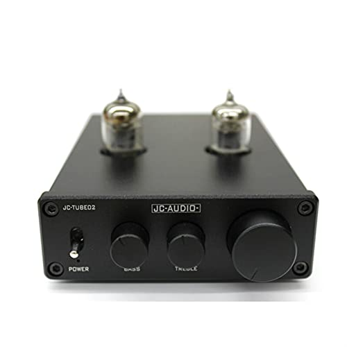 Wnuanjun 1 stück 5654W Röhrer Verstärker Vorverstärker Bluetooth 5.0 Vorverstärker AMP PCM5102A Decoding Treble Bass Ton Anpassung Heimkino (Farbe : Schwarz)