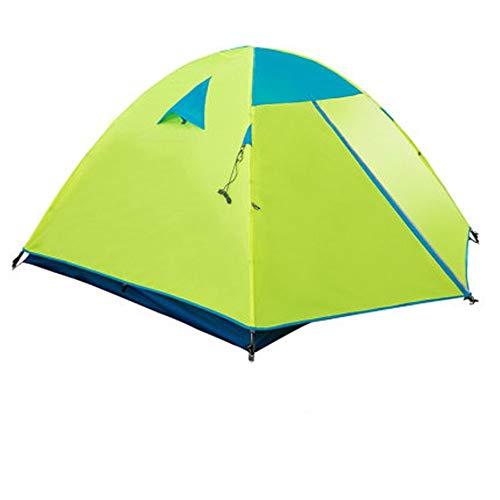 Zelten Family Camp Zelt Freien Im Freienzelt-Regenfest verdickte 2-3 Personen Tourist Campingausrüstung Tragbare Feldzelt Leicht Camping (Color : Green, Size : M)