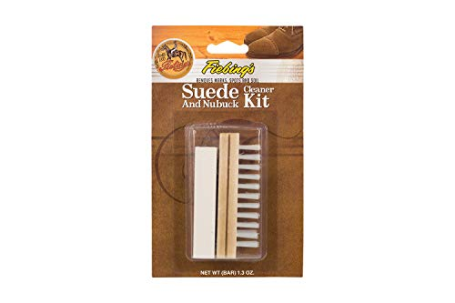 Fiebing's Suede & Nubuck Cleaner Kit - Remove Stains & Clean Shoes Boots Bags Coats , More