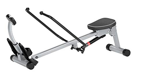 Sunny Health & Fitness SF-RW1410 Rowing Machine Rower with Full Motion Arms, 12 Level Resistance, 220 LB Max Weight and LCD Monitor