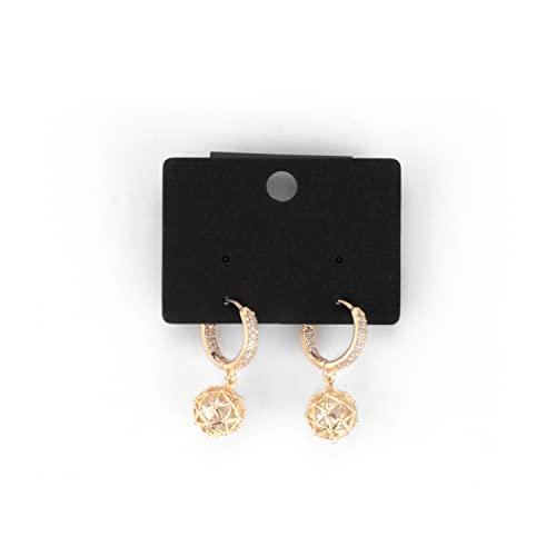 ERATO Plata de Ley 925 Stud Pendientes esféricos huecos de aleación de moda Pendientes colgantes para mujeres niñas