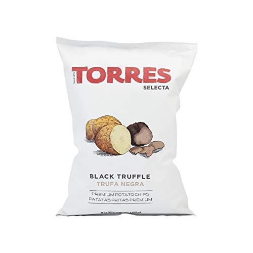 Patatas Fritas Torres Black Truffle Premium Potato Chips Big Bag (1 x 4.41 Oz)
