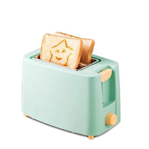 WANGYIYI Desayuno Tostadora Totalmente automática Calefacción Hogar Tostado Sandwich Maker Multifuncional Acero Inoxidable Smiling Face Liner Tostador (Color : Blue)