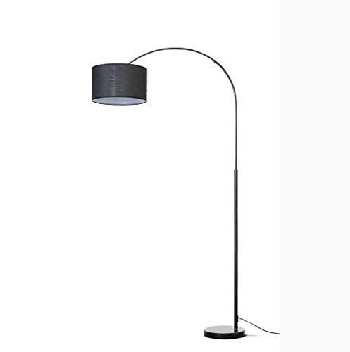 lampadaire Lampadaire, Long Bras De Pêche Sur Pied, Lampe De Sol À Led, Tissu, Chambre À Coucher