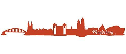 Samunshi® Wandsticker Magdeburg Skyline Wandtattoo verschiedenen Größen und Farben lieferbar in 8 Größen und 25 Farben (190x31cm kupfermetalleffekt)