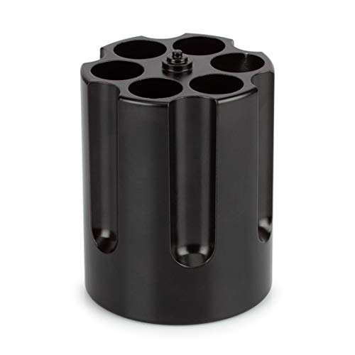 Barbuzzo Gun Cylinder, Heavy Duty Cast Aluminum Pen Holder & Paper Weight - Black