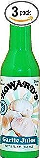 Howard's Juice 5oz Container (Pack of 3) Choose Flavor Below (Garlic)