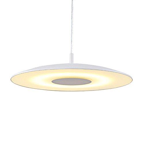 LED luz moderno Simple redonda colgante lámpara ultra-mince acrílico UFO forma lámpara de pie Lustres Creative dormitorio oficina de comedor restaurante Suspensión Light, ø49 cm blanco cálido