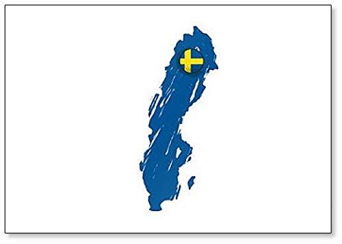 Imán para nevera, diseño de mapa de Suecia