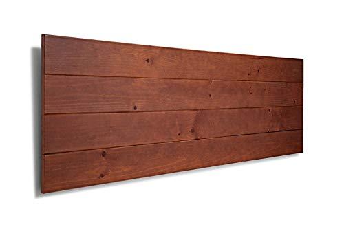 SUENOSZZZ-ESPECIALISTAS DEL DESCANSO Cabecero de Cama de Madera TREVINCA Color Nogal para Pared. Cabecero de Tablas Horizontales. Estilo Vintage, para Camas de 150