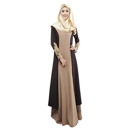 Hanomes 2019 Muslimische Kleider Damen, Muslim Kleidung Frauen, islamisch Robes Arabien Maxi Kleid Trompetenärmel Türkei Kirche Ethnische Kleidung Kaftan Apparel Abaya Mädchen Verschleiß Ramadan