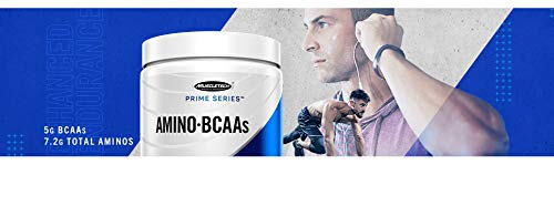 BCAA Amino Acids + Energy | MuscleTech Prime Series BCAAs + EAA | 7.2g of Total Aminos + Electrolytes | Support Muscle Recovery, Build Lean Muscle & Boost Endurance | Fruit Fusion (30 Servings)