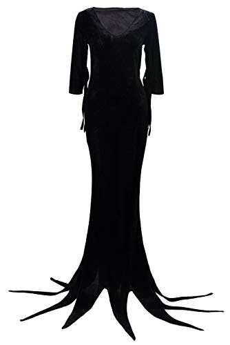 RedJade Morticia Addams The Addams Family Outfit Vestido Suit Uniform Traje de Cosplay Mujeres XL