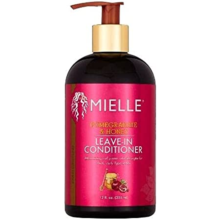 Mielle Organics Pomegranate & Honey Leave-In Conditioner, Moisturizing Curl Primer for Curly Type 4 Hair, 12 Ounces