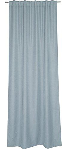 Schöner Wohnen Option Schal mit verdeckten Schlaufen, Polyester, Hellgrau, 250 x 130 cm